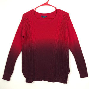 AE Red Ombre Slouchy Sweater